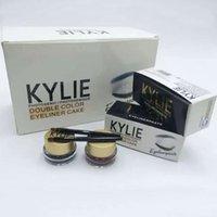 Kylie Jenner Crème Liner Set Noir + Couleur Marron + 2pcs Crayon Femmes Hommes Maquillage Cosmétiques Gel Étanche Beauté Accessoires HH-E10