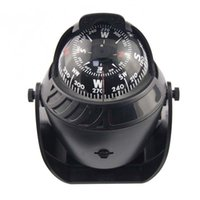 Wholesale Hot New Top Quality LED Light Sea Marine Electronic Digital Car Compass Boat Caravan Truck Black D524