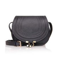 Wholesale High Quality Women Fashion Saddle Genuine calf Leather Handbag semi circular Shoulder Bag Female Vintage Shoulder Messenger Bag