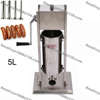 Wholesale L Commercial Use Manual Stainless Steel Sausage Stuffer Filler Funnel Making Machine with Stuffing Tubes