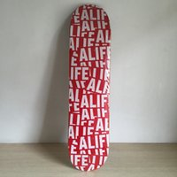 Wholesale ALIF Brand skateboarding deck for new sk8ers red logo with size quot Pattern Skate Deck Patins Street