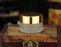 achat en gros de contenant du gel de gros-Prix d'usine Bouteille de crème de vente en gros 20g givré (transparent) Verre Cosmétique Crème Jar Pot Bouteille Container