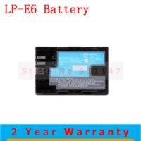 Wholesale High Quality LP E6 LPE6 lp e6 digital Camera Li ion batteries Battery batery pack For Canon EOS D2 D3 D D D D LC E6E BC8