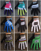 Wholesale Winter thermal fleece cycling long gloves sport ciclismo invierno winter cycling gloves bicycle mtb long finger bike gloves differnt colours