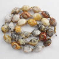 agate beads - 1 strand x10mm Yellow Crazy Lace Agate Carved loose bead inch
