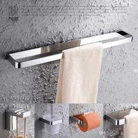 Wholesale Han Pai Solid Brass Luxury Bathroom Accessories Towel Rack Ring Toilet Paper Holder Hook Wall Hanger Acessorios de banheiro Set HP7708