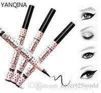 Wholesale top quality YANQINA Twinking Liquid EyeLiner Pen eye pencil Waterproof eye liner Long Lasting Black hours Makeup Cosmetics High Quality