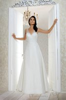 benjamin wedding dresses - Spaghetti Straps Sweetheart Neckline Hand Beaded Lace Appliques Chiffon Custom Made CM19 Benjamin Roberts Bridal Dresses Wedding G
