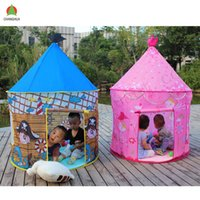 Wholesale New Arrival Children Tent Indoor Blue Pink Gift Package Mongolia Children Toy House Kids Toy Tent