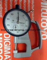 Wholesale Mitutoyo S Dial Thickness Gage Flat Anvil Light Weight Type mm Range