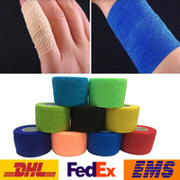 Wholesale DHL New Bandage finger Wrist Support Soccer Basketball Sport Ankle Elbow Kneepad Waist Tape Size Choose WX S01