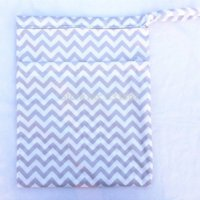 chevron diaper bags - 1 New Design Wet Dry Bag With Two Zippered Baby Diaper Bag Nappy Bag Waterproof Reusable Gray Chevron