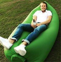 Wholesale Sleeping Bags Outdoor inflatable bed Air Sleep Sofa Outdoor Couch Furniture inflatable Lounger Air Bag Hangout Bean Bag Camping Beach