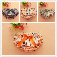 Wholesale Baby Cotton Printed PP Pants Kid Shorts Carton Fox Underwear Boys Girls Bow Skorts Animal Tutu Skirts Summer Cute Infant Underpants Colors