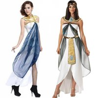 adult greek costumes - Queen Of the Nile Adult Egyptian Cleopatra Costume For Ladies s Fancy Costume Greek Goddess Halloween Costumes For Women W8897