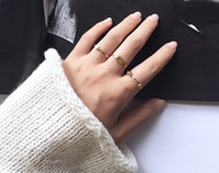 bead set wedding band - women girl simple rings set pieces golden beads forefingure fourth fingure ring chic jewelry gift