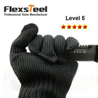 Wholesale Flexsteel Cut Resistant Gloves High Performance Level Protection Food Grade Size Medium for Kitchen Cutting Woodworking
