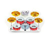 Wholesale Roll Up Drum Kit W1008 Material Non toxic and harmless environmental protection silicone waterproof Color red and yellow or OEM colo