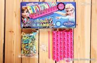 Cheap Wholesale - New Arrival Frozen Fun colourful loom bands DIY bracelets rubber rainbow band Anna Elsa bracelet toy for children child