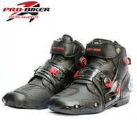 Wholesale Men Motorcycle Racing Riding Boots Sport Icon Moto Cycling Boots Bike Boot Shoes Size Waterproof Boots for Motorcycles