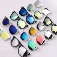 Wholesale Flash Mirror Sunglass for Women Men Summer UV400 Sports Sunglasses Manufacturers Mercury Branded Reflective Sun Glasses DHL Ship am