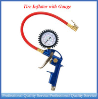 Wholesale Inflator with Gauge Connect Coupler combines an inflation gun chuck and Gauge range of to PSI ATP0241 DHL free