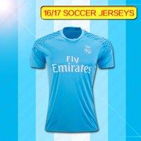 Wholesale 16 Real madrid Soccer Jersey Ronaldo camisetas de football Modric Kroos Ramos Bale Marcelo james Madrid goalkeeper jersey
