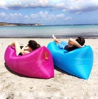 Wholesale Fast Inflatable Camping Sofa banana Sleeping Bag Hangout Nylon lazy lay laybag lamzac Air Bed chair Lounger same as lamzac b466