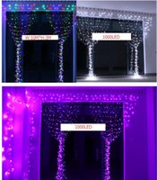 Wholesale Outdoor M x M LED Curtain Light String Outdoor Party Christmas Xmas String Fairy Wedding Curtain Light V or V