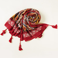 Wholesale Retro national wind bohemian cotton scarves red scarves warm shawl sunscreen