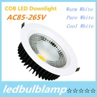 Wholesale LED COB Downlight COB LED Downlight Dimmable W W W W W W Epistar Chip LM CE RoHS DHL