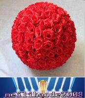 Cheap 5 6 8 10 12 Inch Wedding silk Pomander Kissing Ball flower ball decorate flower artificial flower for wedding garden market decoration MYY