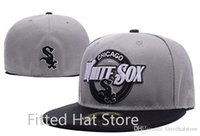 Wholesale 2016 Chicago White Sox Fitted Baseball Caps In Grey Color On Field Sports Closed Hats Outdoor Fashion Hip Hop Chapeau