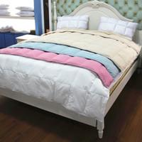 polyester cotton duck down summer hot sales100 duck down feather summer quilt comforter duvet