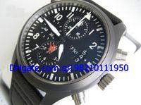 automatic water guns - New Doppel Double Chronograph Top Gun Nib Automatic MenS Watch Men s Sport Watches Black nylon strap