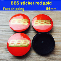 batch logos - Mixed batch carbon mm B B S red gold logo wheel hub center caps for car badges emblem decoration