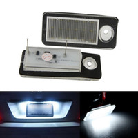 audi wagon - 2x Canbus Error free SMD LED License Plate Light Car Accessories Number Plate Lamp for Audi A6 C6 B Avant Wagon