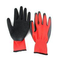 Wholesale Black foam latex gloves gauge garden gloves latex rubber gloves workman safety protect hands gloves Workplace Safety suppliers