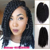 Wholesale Hot Sale Havana Twist Braid Synthetic Senegalese Hair Crochet Braiding Afro Marley Curly Box Braids Hair Nubi braid twist