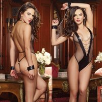 Wholesale New sexy lingerie hot women rose flower teddy sexy open crotch bra lingerie set lace lenceria sexy costume erotic lingerie