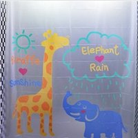 Wholesale Hot Sale Eco friendly EVA Material Bath Accessories Fabric Waterproof Shower Curtain Cartoon Bathroom Mildewproof Shower Curtain cm