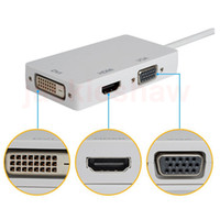 apple dvi adapter - Mini Display Port DP MDP To HDMI VGA DVI HD P in1 Display Port Cable Adapter Converter for Apple Macbook Microsoft Surface