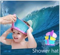 Wholesale Adjustable Children s bath cap Baby shampoo no more tears caps kids shower caps Hair Washing Bliss environmental baby bath accessories