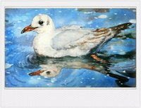 Wholesale Bird In The lake decorative art watercolour painting