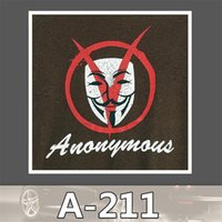 anonymous sticker - A Tide Brand V Word Vendetta Pvc Anonymous Pamphlets Waterproof Car Stickers Cartoon Trunk Dead Fly Skateboard