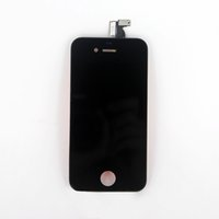 Wholesale High Quality Black White LCD for iPhone S G touch screen digitizer with frame Assembly tested