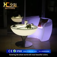 Wholesale Xi color LED light bar table tall tables and chairs stylish KTV Night cocktail coffee