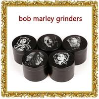 Wholesale Bob Marley Grinder Zinc Alloy Herb Grinders Layers mm Herbal Grinders Metal Grinders Tobacco Grinders SharpStone Grinders