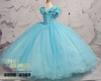 aa pictures - Cinderella Girl Dress Princess Kids Pageant Party Dance Wedding Birthday Gown AA