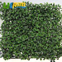 Wholesale 12 Pieces Green Artificial Boxwood Hedge Mat UV Resistant quot x20 quot pc